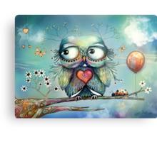 little wood owl Metal Print