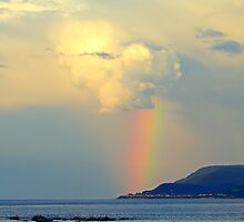 Storm Drops a Rainbow onto Village by DanByTheSea