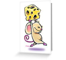 Lunch Time Mouse with Cheese Greeting Card