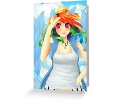 Rainbow Dash -MLP Poster Greeting Card