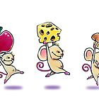 Lunch Time Mice Greeting Card by NoCashComics