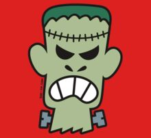 Angry Halloween Frankenstein One Piece - Long Sleeve