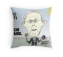 Caricature de Mario MONTI Throw Pillow