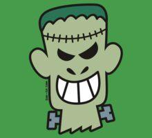 Naughty Halloween Frankenstein Baby Tee