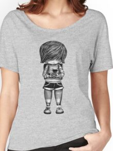 Smile Baby Photographer black and white Women's Relaxed Fit T-Shirt