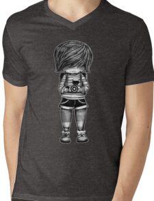 Smile Baby Photographer black and white Mens V-Neck T-Shirt