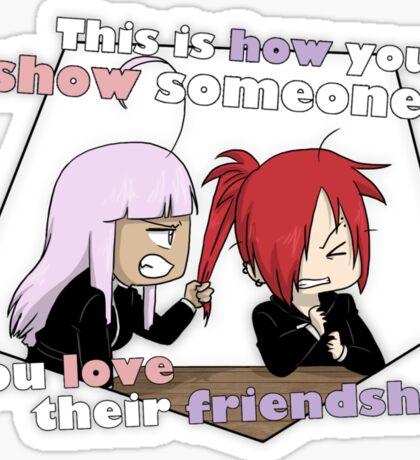 How you show you love their friendship Sticker