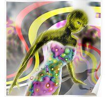 Rainbow Alien  Poster