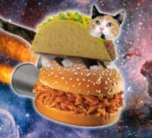 Taco Cat In Space Sticker