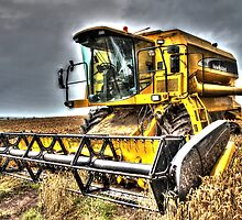 Big Yellow Combine by decartsnorth