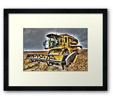 Big Yellow Combine Framed Print