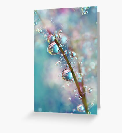 Rainbow Blue Smokey Drops Greeting Card