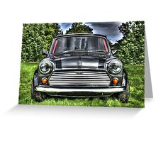 Classic Mini Car Greeting Card