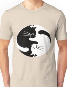 Ying yang cat (white) Unisex T-Shirt