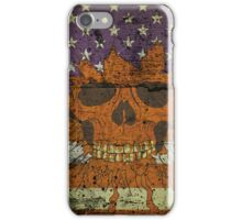 American Patriotic Skull On Gunge Wall Flag iPhone 5 Case / iPhone 4 Case  / Samsung Galaxy Cases  iPhone Case/Skin