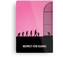 99 steps of progress - Respect for elders Metal Print