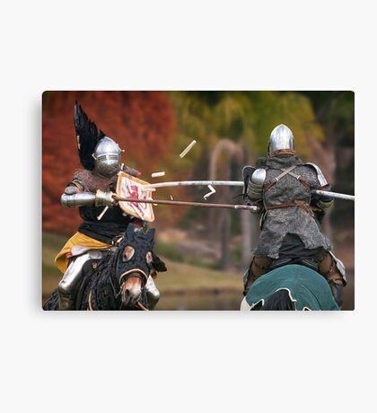 Medieval Magic - Jousting on Target Canvas Print