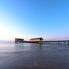 Calm Sea & Blue Sky by John Sharp