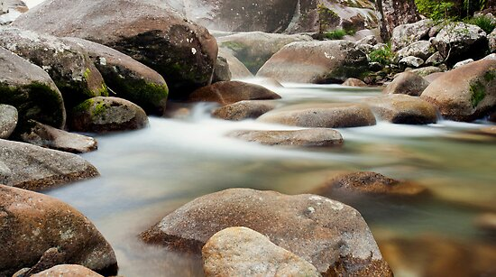 Slow Flow - Josephine Falls, far north Queensland by Jenny Dean