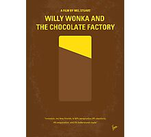 No149 My willy wonka and the chocolate factory minimal movie poster Photographic Print