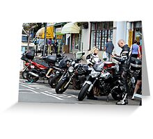 BIKERS . Greeting Card
