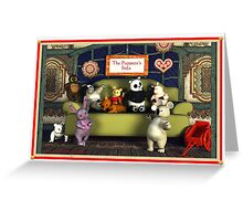 The Puppets's Sofa Greeting Card