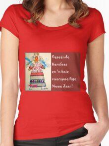 Something for Christmas/ 'n Ietsie vir Kersfees Women's Fitted Scoop T-Shirt