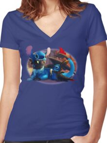 Jammy Jam Women's Fitted V-Neck T-Shirt