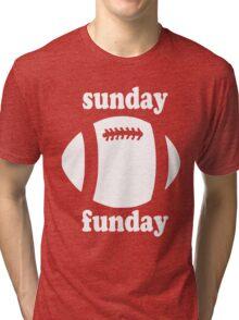 Cute Sunday Funday white design Tri-blend T-Shirt