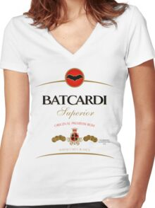 Batcardi Rum Women's Fitted V-Neck T-Shirt