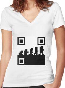 99 steps of progress - Mass market Women's Fitted V-Neck T-Shirt