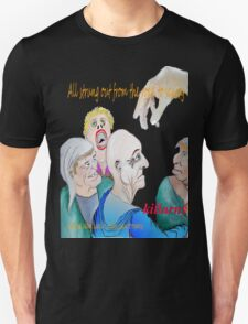All strung out from the road to sanity Unisex T-Shirt