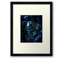 Blue Engine Framed Print
