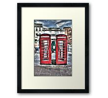 British telephone boxes Framed Print