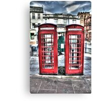 British telephone boxes Canvas Print