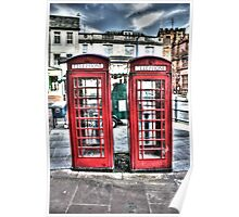 British telephone boxes Poster