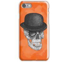 Clockskull orange - iPhone case iPhone Case/Skin