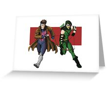 Gambit and Green Arrow Greeting Card