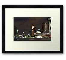 Bicentennial Park at night - Columbus, Ohio Framed Print