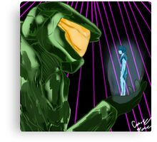 Master Chief x Cortana (Halo) Canvas Print