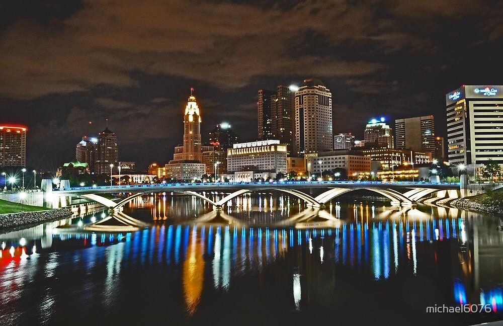 Columbus skyline at night - Columbus, Ohio by michael6076