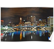 Columbus skyline at night - Columbus, Ohio Poster