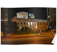State Capitol Building at night - Columbus, Ohio Poster