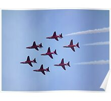 Inverted Red Arrows Poster