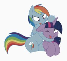 Rainbow And Twilight Playing by eeveemastermind