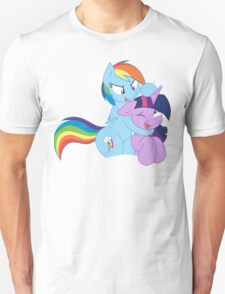 Rainbow And Twilight Playing Unisex T-Shirt