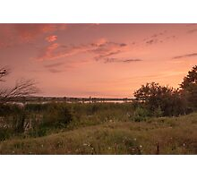 Sunset on the lakeshore Photographic Print