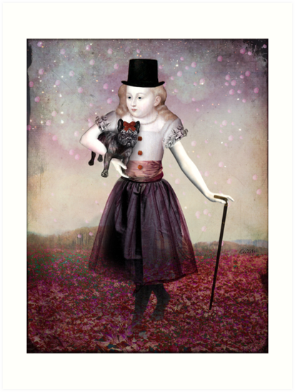 Madame Colette and her pet by Catrin Welz-Stein