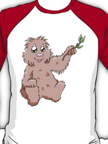 Happy Bigfoot with Branch T-Shirt
