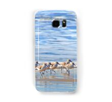 We're following the leader... Sandpipers in Goleta Beach California Samsung Galaxy Case/Skin
